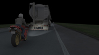 motorcycle accident animation